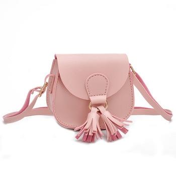 Cute Baby Mini Coin Purse Leather Kids Girls Tassel Small Zero Wallet Bag Kawaii Toddler Black Change Purses Gift 1
