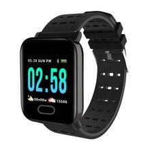Купить с кэшбэком RAVI A6 Smart Watch Blood Pressure Heart Rate Monitor Sleep Sport Fitness Tracker Waterproof Smartwatch APP Connect Android IOS