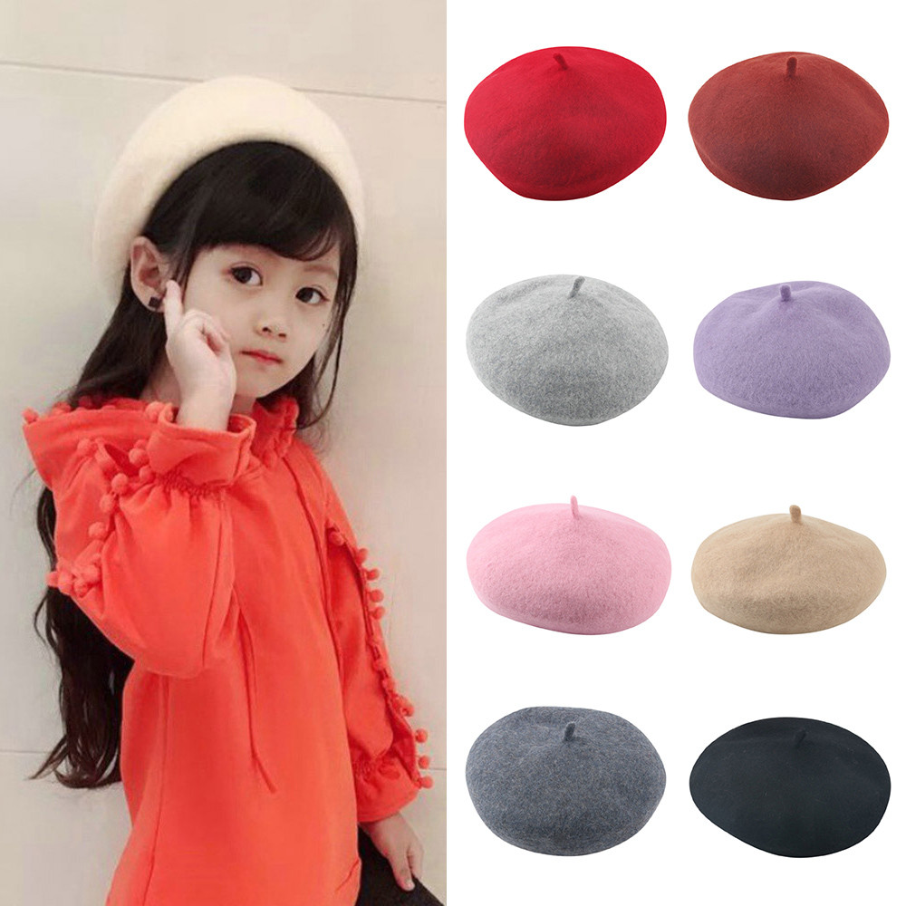 34422991477ab Detail Feedback Questions about MUQGEW Toddler Kids Hats Girls Baby Infant  Winter Beret Solid Hat Beanie British Painter Cap New Year Children Girl  Caps on ...
