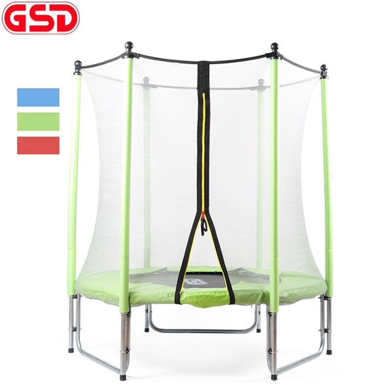 GSD 55 Inch Dětská pružinová trampolína s bezpečnou síťovou skříní 3 Barvy k dispozici