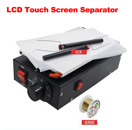 Vacuum Pump Mobile Phone LCD Touch Screen Separator Machine Max 7-inch Lens Glass Repair + 100m Cutting Wire bst 855a lcd vacuum separator touch screen assembly splitter below 7 inches cellphonesplit screen machine
