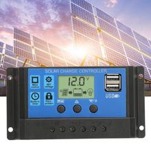 10A 20A 30A Auto Solar Charge Controller with Dual USB port LCD Display Solar Cell Panel Charger Regulator tracer1210an 10a 10amp with usb cable built in lcd display solar charging regulators epsolar product