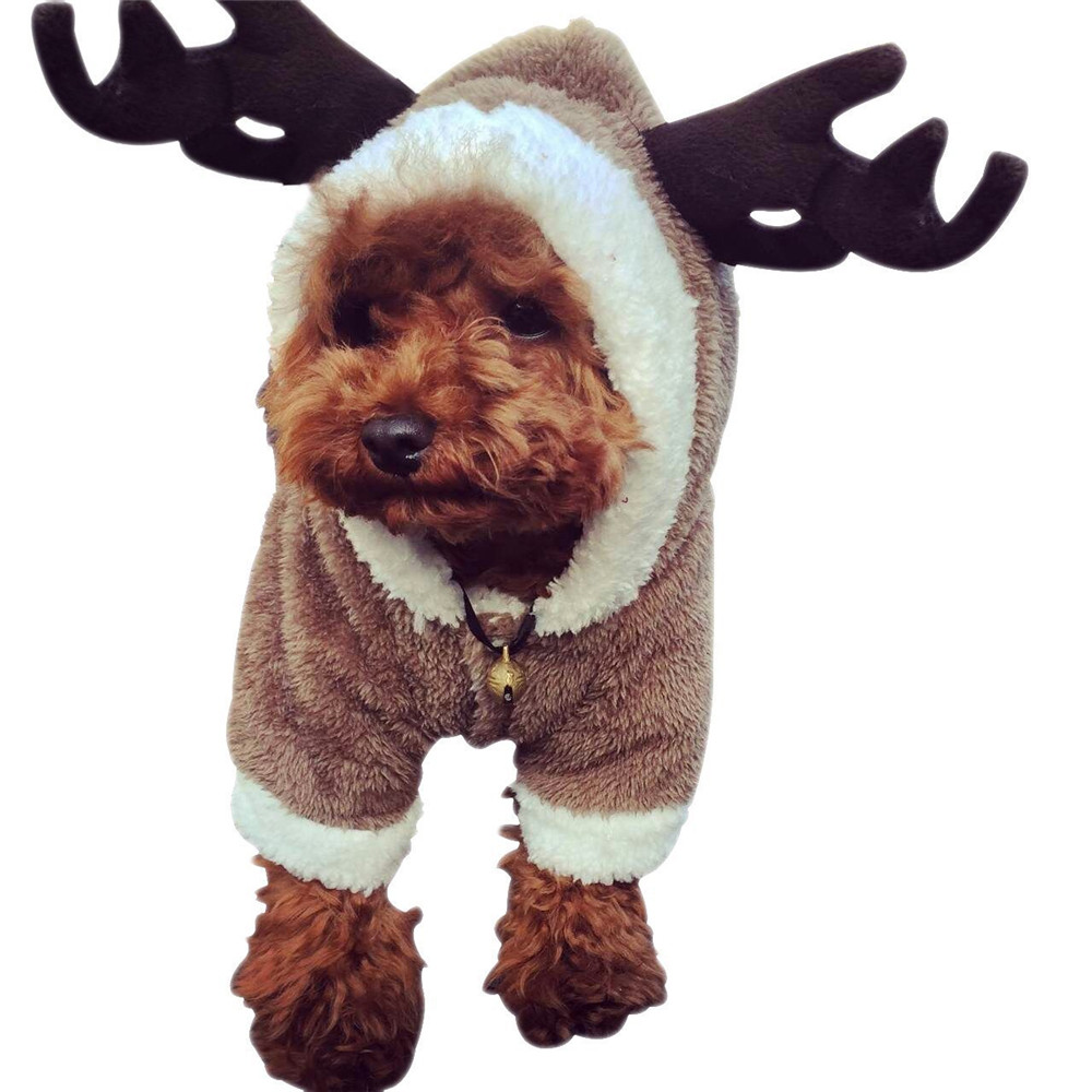 Hellomoon Brown Elk Spring Autumn Pet Dog Clothes Cloth Jacket Clothing Coat For Small Medium Large Dogs drop shipping on sale