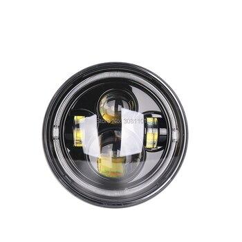 Kits De Modelos De Fundición A Presión   Anillo De Halo De Cristal De Faro LED De 7 Pulgadas DRL Para Modelos De Harley Softail Equipado Con El Kit De Luz Frontal 1994-posterior Etc