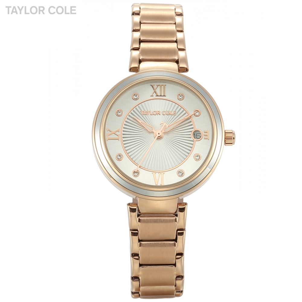 Taylor Cole Silver Women Watches 2017 Brand Luxury Rose Gold Round Fashion Popular Wristwatch Female Quartz Women Watch / TC068 taylor cole relogio tc013