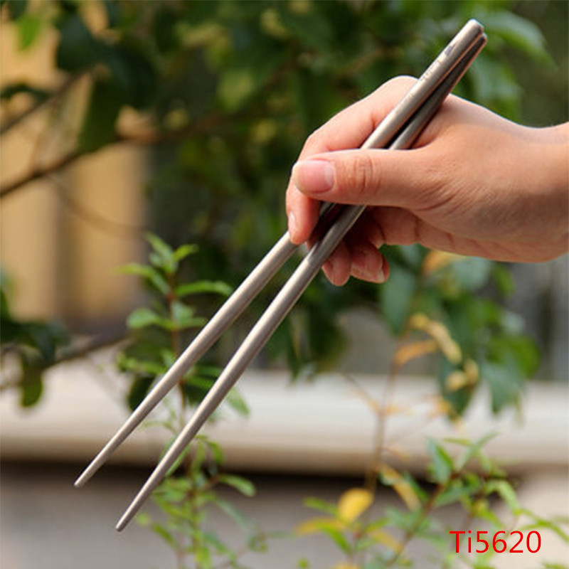 Sports & Entertainment Beautiful New Chopsticks Titanium Metal Chopsticks Outdoor Cookware Camping Cutlery Antibacterial Function Tableware 14.5g Ti5620/ti5622 Pleasant In After-Taste Campcookingsupplies