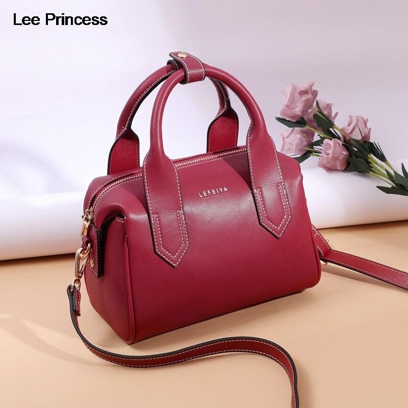 Lee Princess Luxury Handbags Women Large Capacity New Fashion Split Leather Girls Crossbody Bag Casual Lady