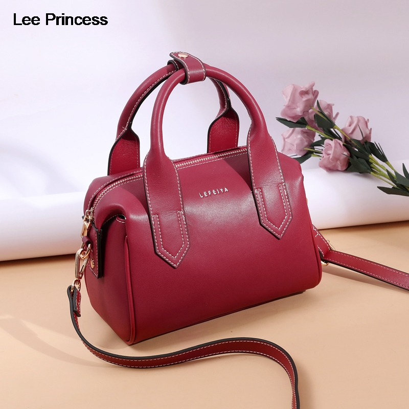 Lee Princess Luxury Handbags Women Large Capacity New Fashion Split Leather Girls Crossbody Bag Casual Lady Shoulder Bags Female-in Shoulder Bags from Luggage & Bags    1