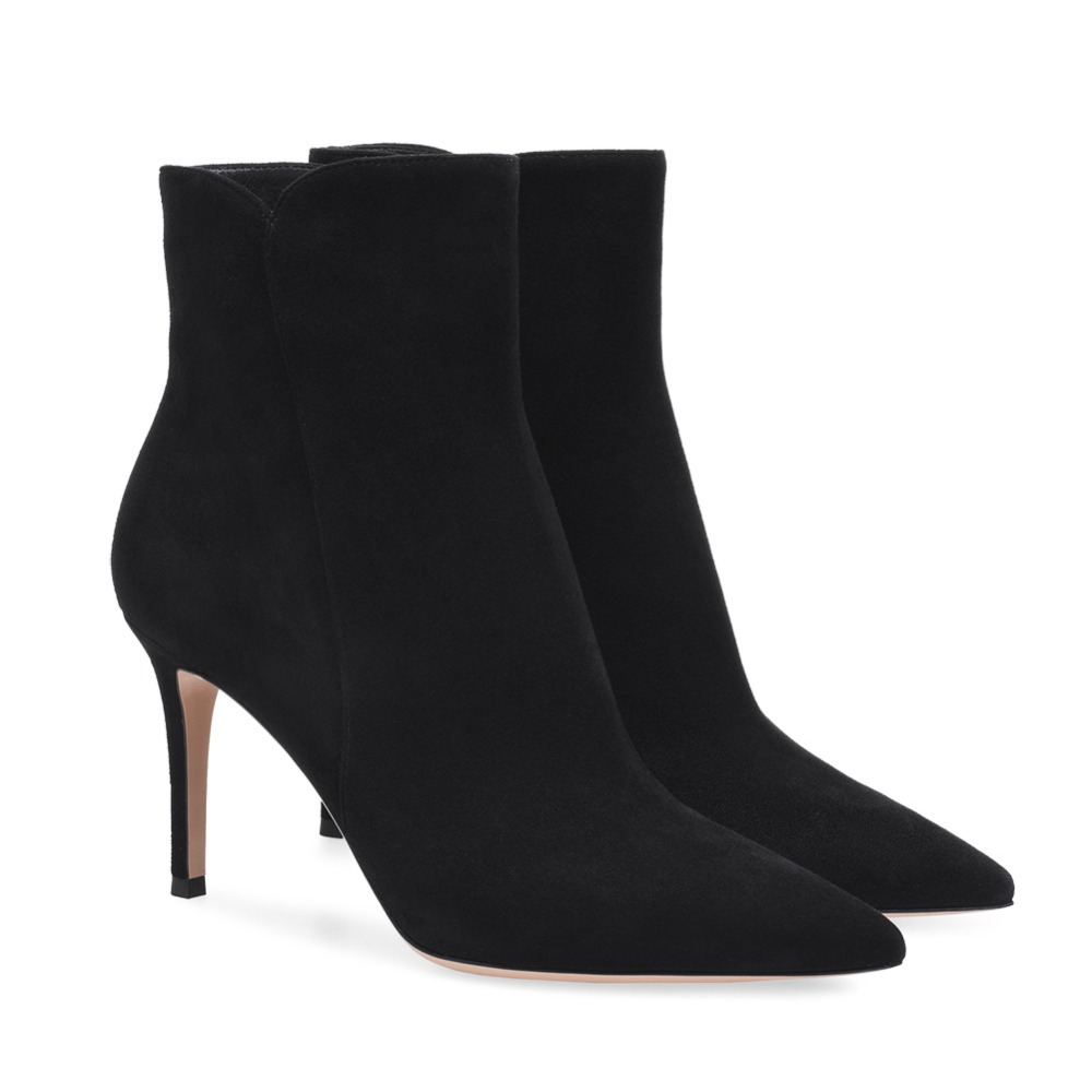 Winter High Heel Ankle Bootie Women Plus Big Size Bootie Daily Shoes Pointed Toe Pumps Black White Red Grey Brown цены онлайн