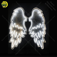 Wedding Neon Sign ANGEL WINGS Handcrafted Love Neon Bulbs Sign Beauty Display Accesaries neon light Room restaurant Advertise