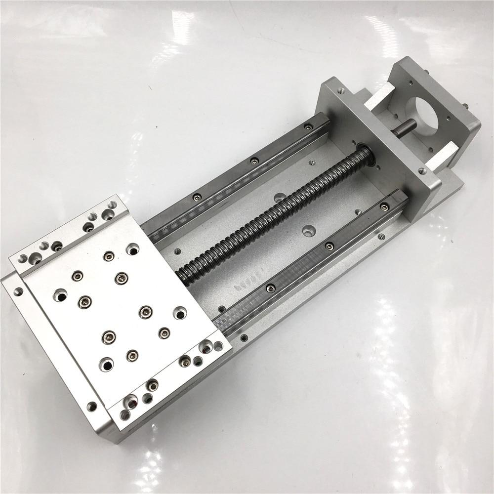 Corsa 200mm Linear Actuator Fase Tavolo Scorrevole Guida Quadrata SFU1605 Slitta Trasversale Scorrevole Tavolo di Lavoro CNC Fresatura
