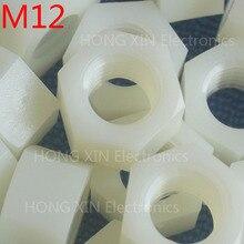 M12 1 шт. белый нейлон шестигранная гайка 12 мм пластиковые гайки Удовлетворения RoSH стандартам Гексагональной ПК Электронные аксессуары Инструменты и т. д. высокого качества
