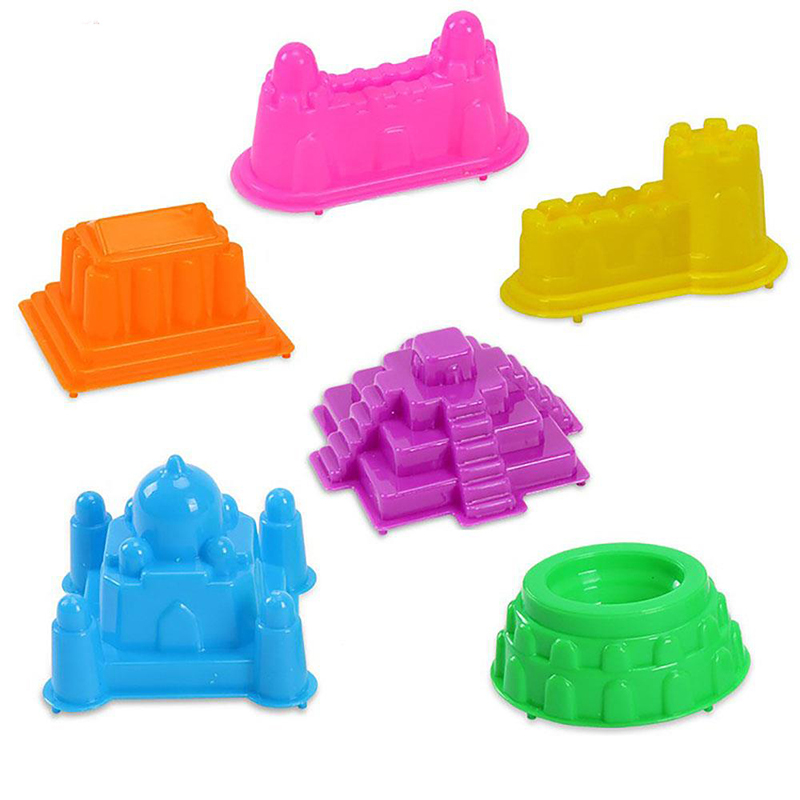 6 Pcs/set Children Mini Ancient Building Sand Castle Mold Tools Baby Summer Funny Game Beach Toys Gifts Kids Model Building Kits