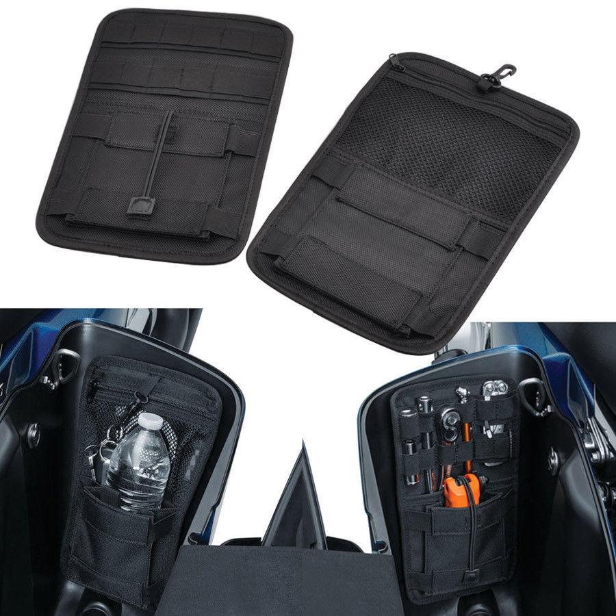 Motorcycle Accessories Saddlebag Inner Toolkit Hard Bags Storage Case For Harley Davidson Touring Bagger 2008 2018