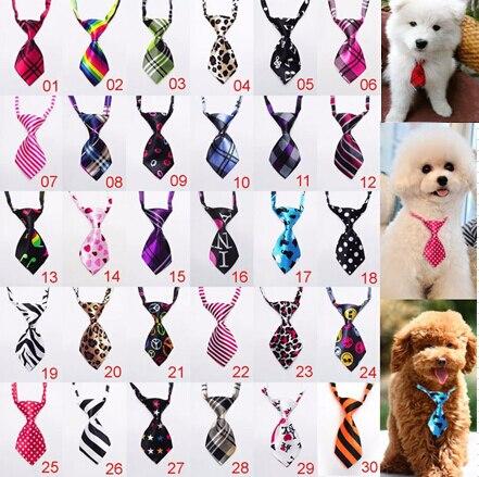 100 ชิ้น/ล็อตโรงงานขายใหญ่สุนัขผูกสัตว์เลี้ยงผูกโบว์แมว Neckties สุนัขอุปกรณ์ที่แตกต่างกันสี P10-ใน อุปกรณ์เสริมสุนัข จาก บ้านและสวน บน   1
