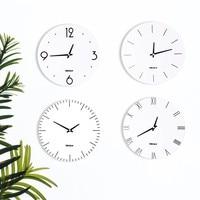 11 Inch Nordic Minimalist Wall Clock Vogue Roman Numeral White Wall Clock Home Round Clock