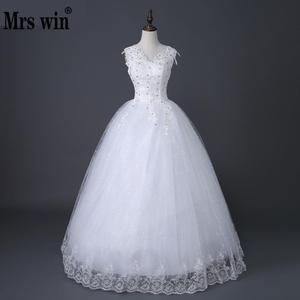 Image 1 - Desinger Simple Lace Wedding Dresses Custom made Cheap Bridal Gowns Vestido De Noiva Vintage Under 100