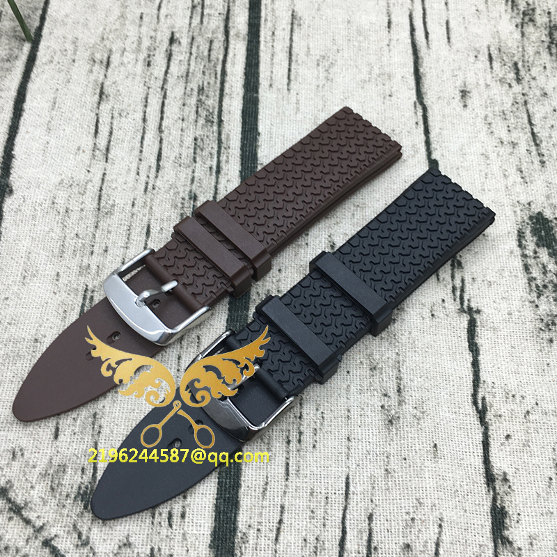 2016 NEW 23mm (Buckle 22m) NEW High Quality Men Brown and Black Waterproof Diving Silicone Rubber Watch BAND Strap Free Shipping 28mm new high quality red waterproof diving silicone rubber watch bands straps