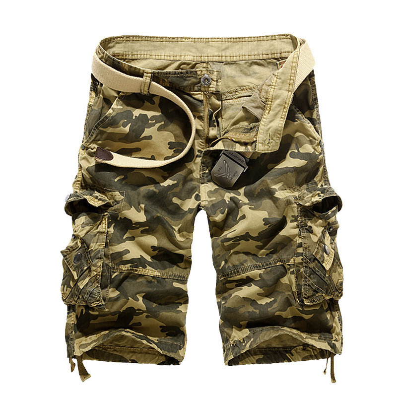Fashion Cargo Men Camouflage Summer Cotton Casual Men Short Pants Brand Clothing Comfortable Camo Men Cargo Shorts Hot Sale