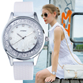 SINOBI Montre Femme 2017 Женщин Способа Crytal Наручные Часы Белый Ремешки Подарки на Новый Год Дамы Женеве Кварцевые Часы