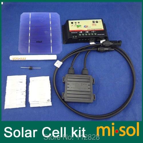 40 pcs mono 5x5 celulas solares kit diy para painel solar regulador barramento tabbing fio