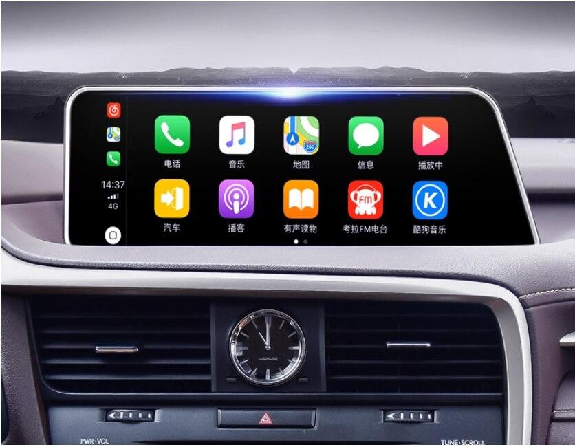 For Lexus RX AL20 RX 200T 450h 2015~2019 Liislee Car Multimedia Player NAVI 12.3 Screen Radio CarPlay Adapter Map GPS Navigation 2