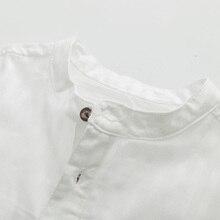 Casual Boys Cotton Shirt White Short Sleeve