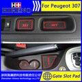 Автомобильные аксессуары для Peugeot 307 антипробуксовочная стикер ворота слот pad коврики для вытирания ног ковер Интерьер Кубок Держатель Двери