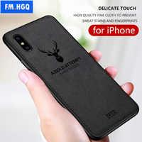 Tissu chaud Texture Cerf 3D TPU Souple De Voiture Magnétique Pour Apple iPhone XS Max Aimant Intégré Plaque étui pour iPhone X XS Couverture