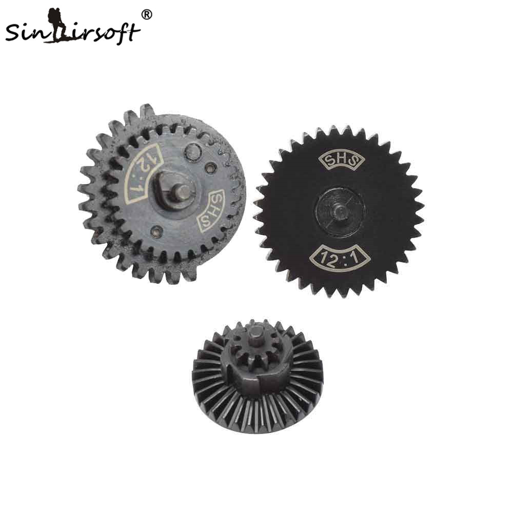 SINAIRSOFT SHS 12:1 Ultra-high Speed Gear Set Hunting Accessories For Ver.2 / 3 AEG Airsoft Gearbox SHS New Type 12:1 Gear Set
