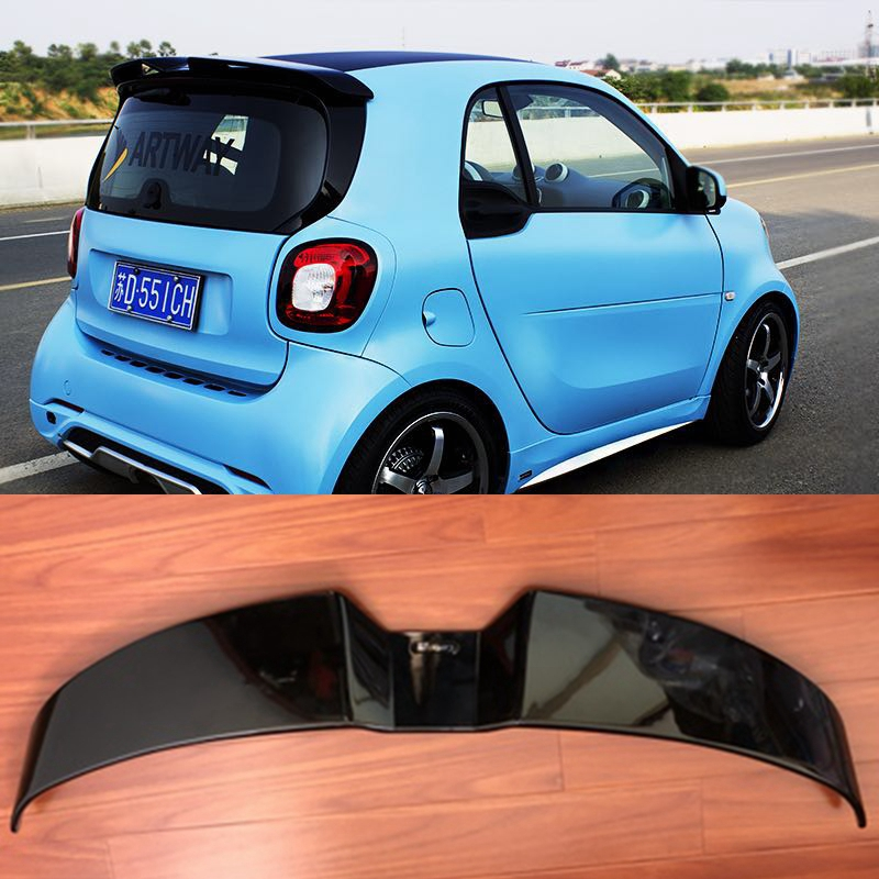 MONTFORD For Merced-Benz Smart Fortwo Fourfour 451 453 Spoiler ABS Plastic Unpainted Primer Color Rear Trunk Boot Wing Spoiler casio efa 132pb 1a