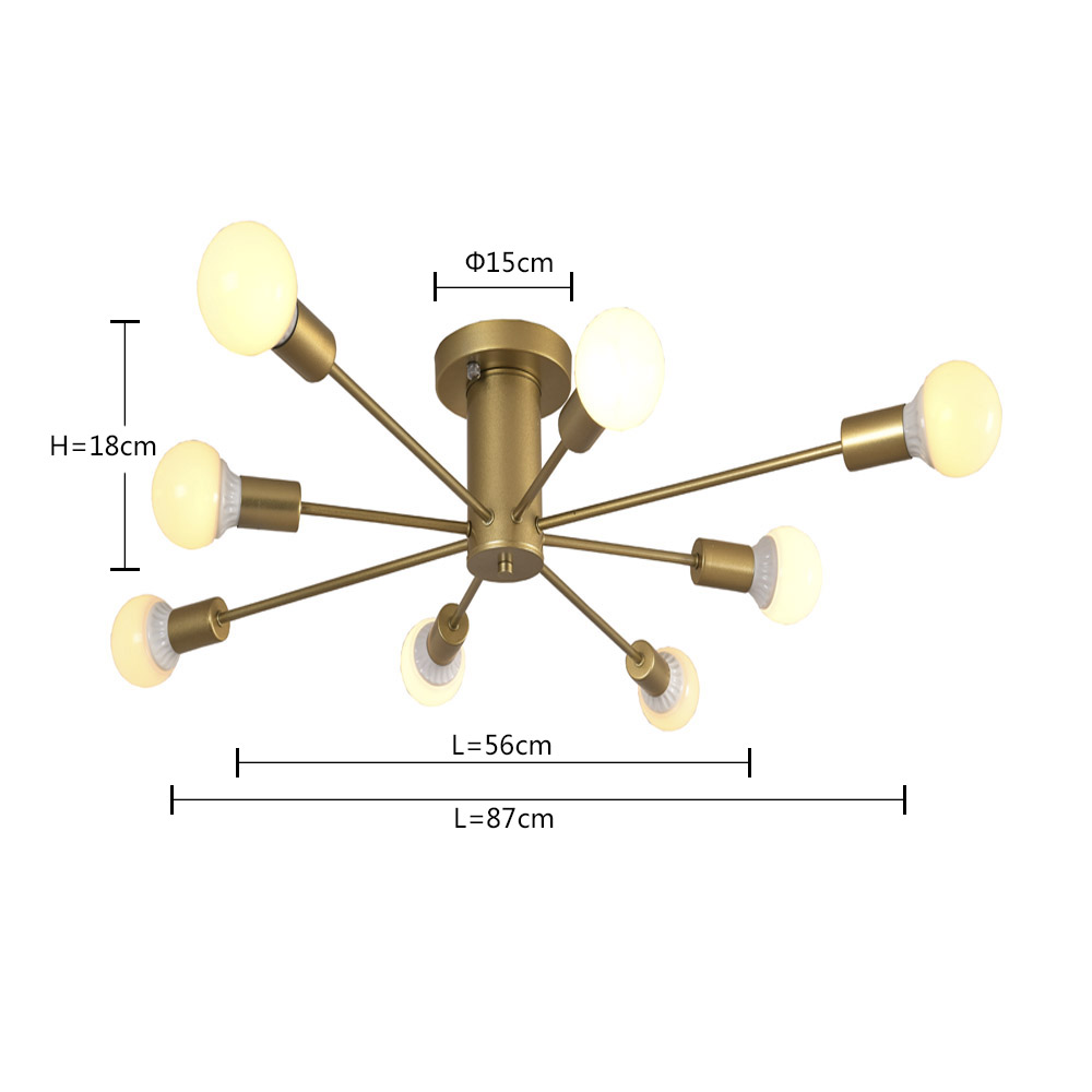 Image 5 - LED Pendant Lamp Modern Pendant Lights Hanging Vintage Multiple Rod Wrought Iron Lighting Ceilin Fixtures Home Decoration Light-in Pendant Lights from Lights & Lighting