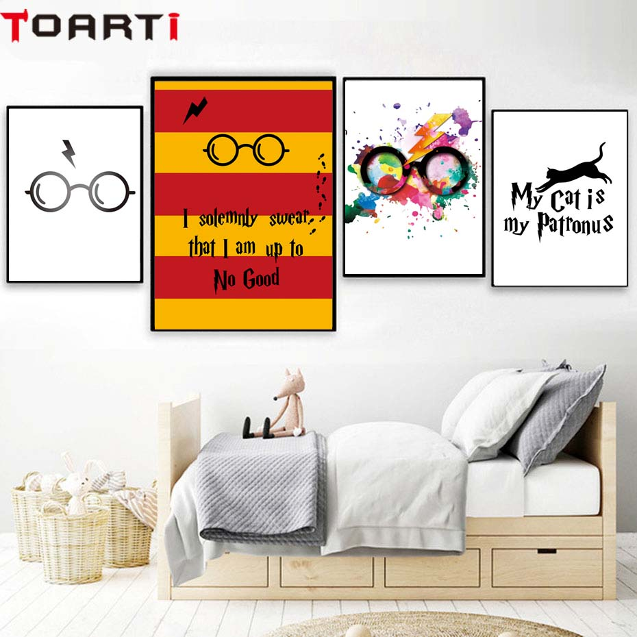 Harry Potter Bedroom Decorating Ideas Modern One Bedroom Apartment Design Black Leather Bedroom Suite Bedroom Colours For Dark Rooms: Classic Movies Harry Potter Glasses Poster&Prints Modern