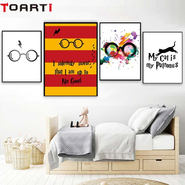 Classic Movies Harry Potter Glasses Poster&Prints Modern Home Decor ...