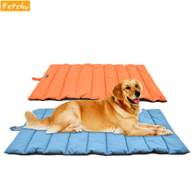 Petshy Outdoor Waterproof Dog Bed Mat Folding Portable Pet Blankets Pad Warm Comfortable Dogs Cats Sleeping Nest Kennel Cushion
