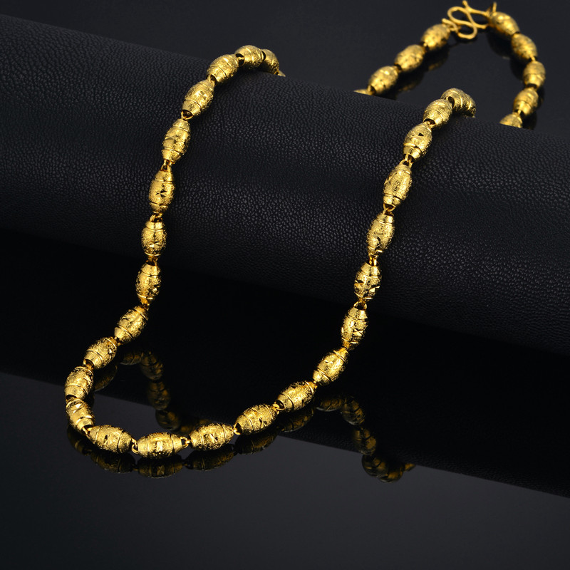 African Beads Gold Necklace For Women Men Color Golden Chain Vintage Indian Nigerian Wedding Jewelry In Necklaces From