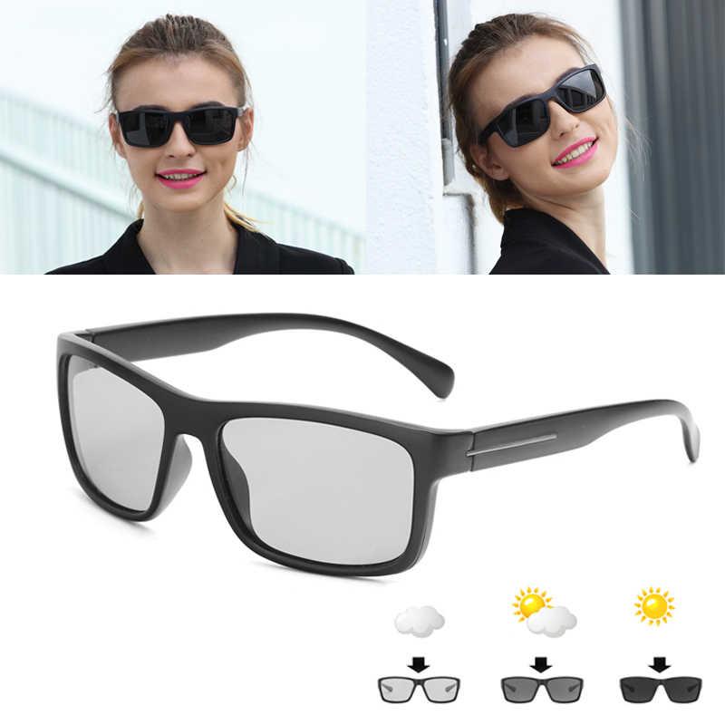 da91d8c5c2 ... Hot Sale Men HD Polarized Photochromic Sunglasses Women Chameleon  Discoloration Sun glasses Black Frame by LongKeeper ...