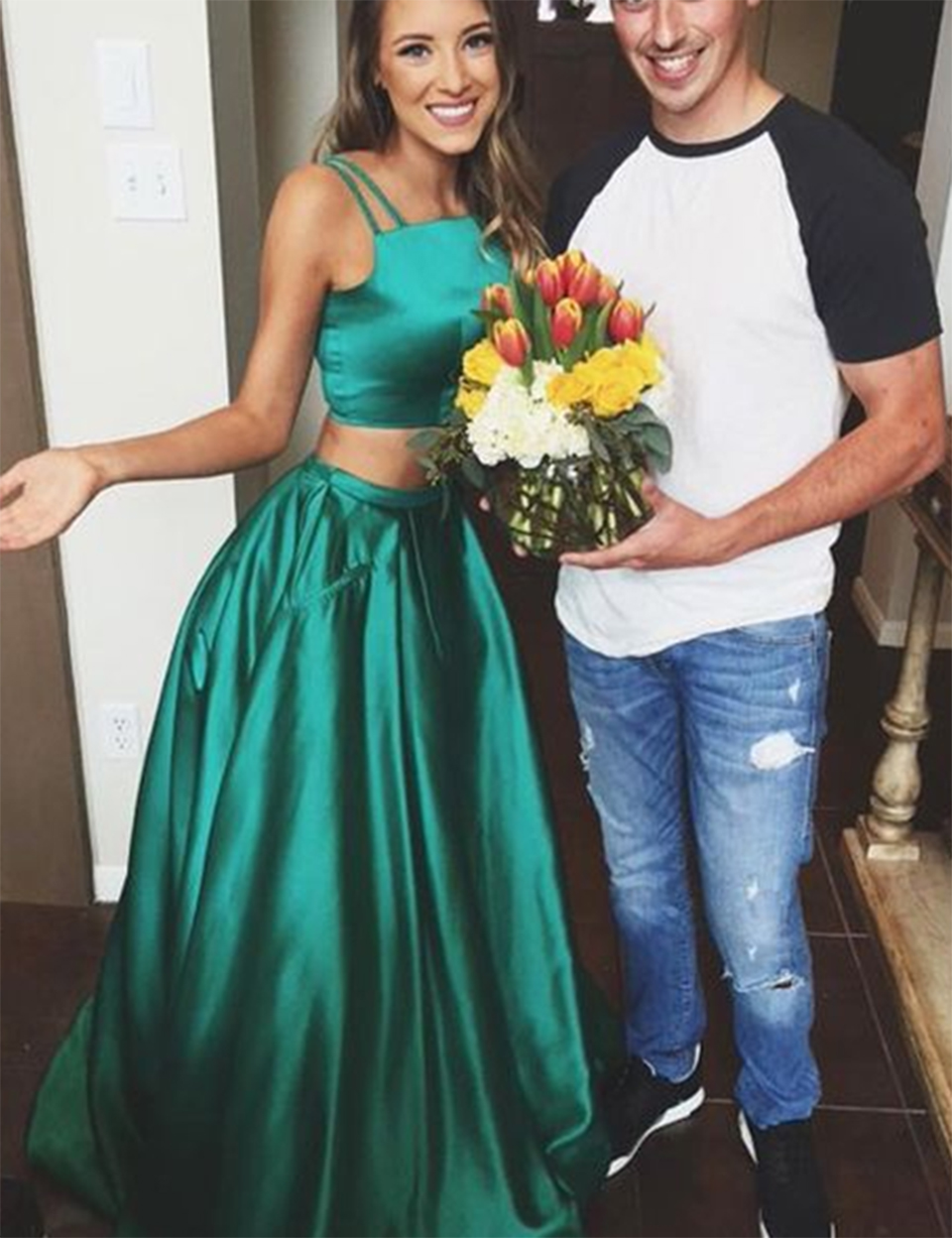 Online Buy Wholesale dark green prom dresses from China dark green ...
