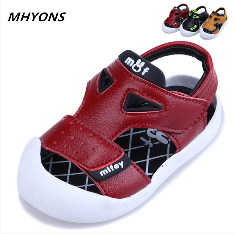 a1628536ee51e leather sandals boys 2018 100% soft leather in summer the new boys and girls  children