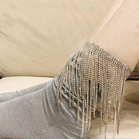 2019 Women Socks Socks Japan Pug Funny Women's Custom Handmade Wire Rhinestone Tassel Metal Chain In The Pile Female Fashion