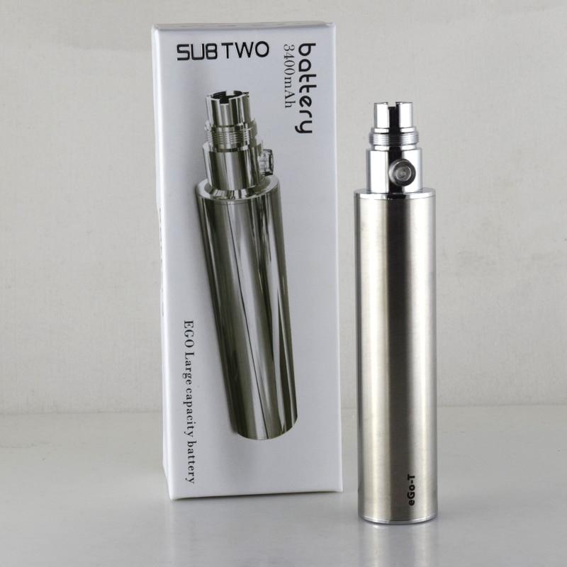 2 unids/lote Ego recargable gran capacidad 3400 mAh batería voltaje 3,2-4,2 v E batería cigarrillo