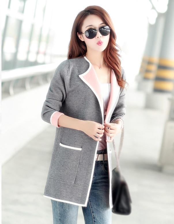 HTB1Ehj5sSBYBeNjy0Feq6znmFXaK 5XL Autumn Winter Jacket Women Coats 2019 Plus Size Knitted Cardigan Jackets Female Outerwear Casual Pocket Coat Jaqueta Mujer