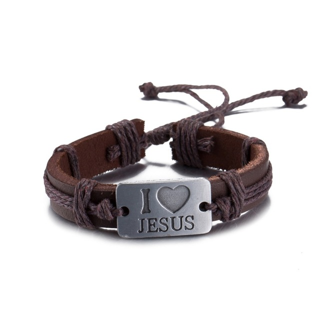 Love Engraved Charm Leather Bracelets For Women Men Adjule Rope Wristband Cuff Male Female Friendship