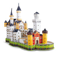3D DIY Puzzle Jigsaw Swan Castle Germany Construction Pattern Famous Building Cardboard Model Puzzle Educational Toys