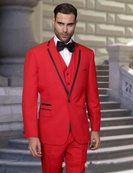 Fashion Red Men Wedding Groom Tuxedo Best Man Groomsmen Tuxedo Business Men Suit  C131