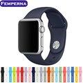 Nueva colorful 42mm banda de reloj de silicona con conector adaptador para apple watch deportes hebilla de pulsera