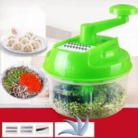 Multifunction Vegetable Cutter Hand Speedy Chopper Spiral Slicer Meat Fruit Shredder Slicer Crusher Grater Kitchen Tools