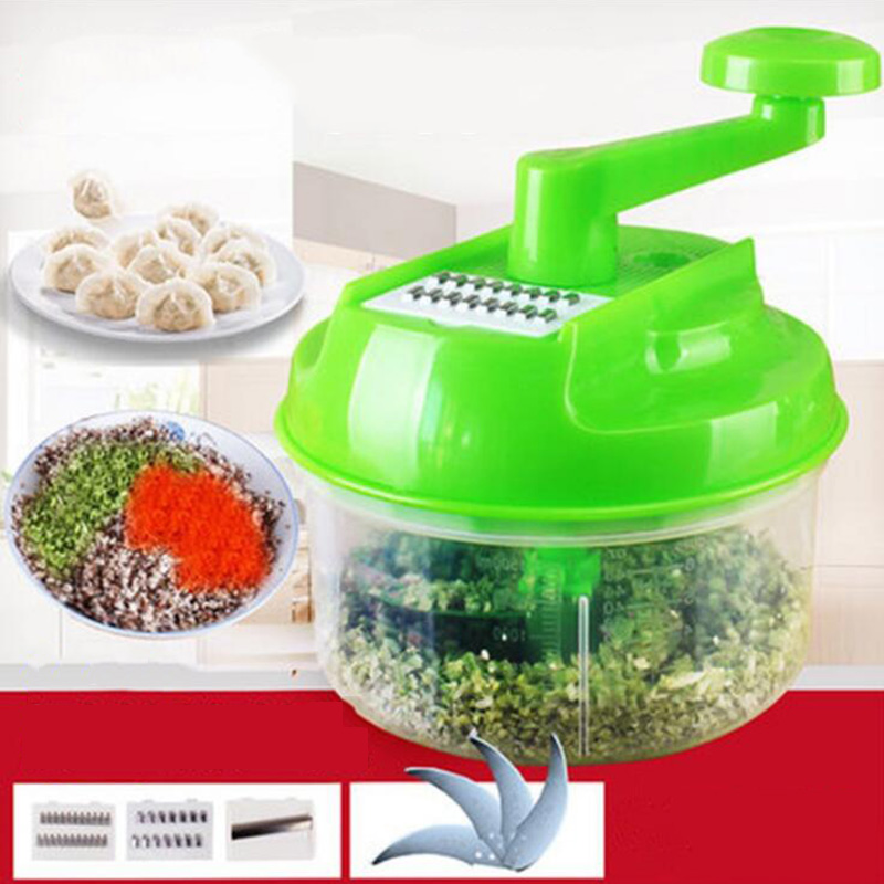 Vegetable Cutter Hand Speedy Chopper Spiral Slicer Meat Fruit Shredder Slicer Crusher Grater Kitchen Tools