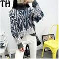 Женщин свитер Осенью и зимой высокий воротник полосатый мохер свитер Корейский свободные длинные рукава свитер толстый слой SW016