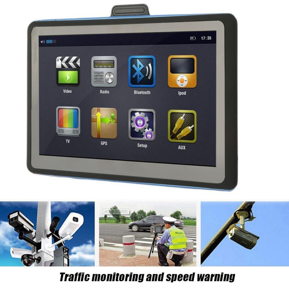 7 Inch LCD Display Car GPS Navigation SAT NAV 8GB Navigator with Sunshade